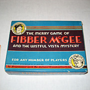 SOLD Fibber McGee Game - 1940