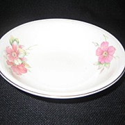 SALE Homer Laughlin Wild Pink Rose Cereal Bowls - 8 Available