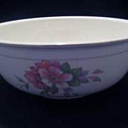 SALE Homer Laughlin Wild Pink Rose Salad Serving Bowl - 1941