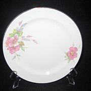 SALE Homer Laughlin Wild Pink Rose Salad Plates - 12 Available