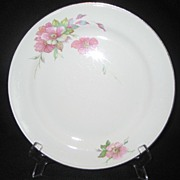 SALE Homer Laughlin Wild Pink Rose Dinner Plates - 7 Available
