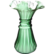 SALE Fenton Heritage Green Wheat Vase