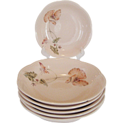 """Set of 6 Mikasa Rondo """"Oriental Poppy"""" Soup Bowls"""