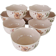 8 Mikasa Oriental Poppy Soup/Cereal Bowls