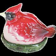 Cardinal Bird On A Nest Salt and Pepper Shakers