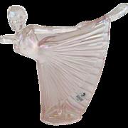 "Fenton Pink Carnival ""Natalie"" Ballerina"