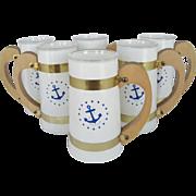 "Set of 6 Siesta ""Anchor"" Mugs"