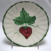 SALE Blue Ridge Southern Potteries Wild Strawberries Bread & Butter Plates