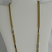 SALE Goldtone and Black Chain Necklace - Korea