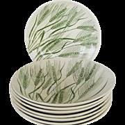 SALE Homer Laughlin China Wheat Americana Soup Bowls - 8 Available