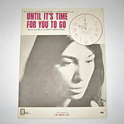SALE Buffy Sainte Marie Sheet Music - Until It's Time For You To Go