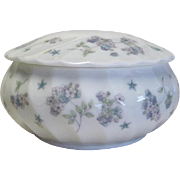SALE Wedgwood April Flowers Round Box With Lid