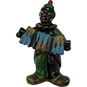 SALE Black Clown Salt and Pepper Shakers