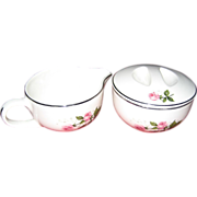 Royal China Queen's Rose Creamer and Sugar