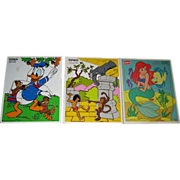 Set of 3 Disney Playskool Puzzles -