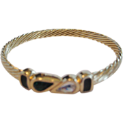 SAL Goldtone Bangle Bracelet