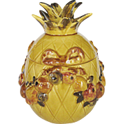 Los Angeles Pottery Pineapple Cookie Jar