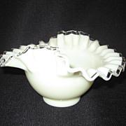 SALE Fenton Ivory Crest Bowl