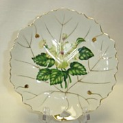 SALE Lovely White Dish With Yellow Floral Pattern -  Nasco