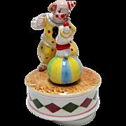 SALE Ebeling & Reuss 1984 Clown & Dog Music Box