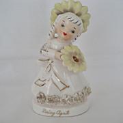 SALE Daisy April Flower Girl Figurine