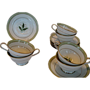 "SALE Noritake ""Greenbay"" Cups and Saucers - 5 Available"