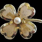 Coro Four Leaf Clover Pin