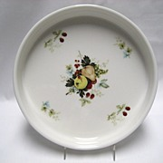 SALE Royal Kent Staffordshire Quiche Dish - Fruit Pattern