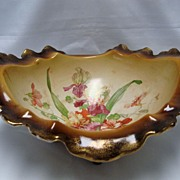 SALE LaBelle China Floral Footed Console Bowl