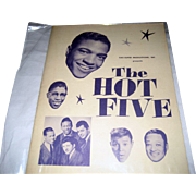 SALE The Hot Five National Tour Program - Winter 1959-1960 - Autographed