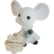 Fenton Boutonniere Buddy December Birthday Mouse