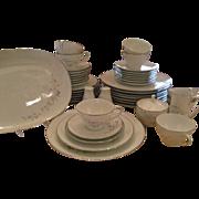 SALE Noritake Colmar 46 Pc. Dinnerware - Platinum Trim - FREE SHIPPING!!