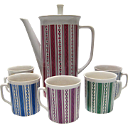 SALE Villeroy & Boch Coffee Pot and 5 Mugs