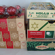 SALE 7 Boxes Christmas Ornaments + Extra  Bag Of Misc. Ones
