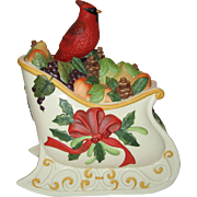 Lenox Winter Greetings Sleigh Cookie Jar
