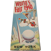 1940 World's Fair New York Map