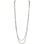 Crown Trifari Silvertone Mesh Necklace