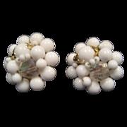 White Bead Clip-On Earrings - Japan