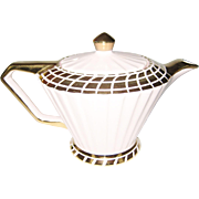 Sadler Pink and Gold Colored Teapot