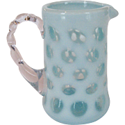 Fenton Blue Coin Dot Creamer