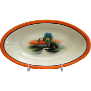 REDUCED Noritake Porcelain Hand Painted Dish, Ca. 1925