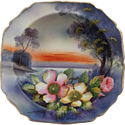 REDUCED Stunning Noritake Hand Painted Pedestal Bowl, Ca. 1930