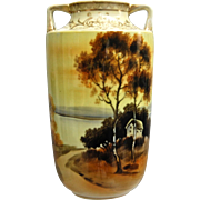 REDUCED Noritake Nippon Hand Painted Scenic Vase