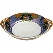 REDUCED Noritake Hand Painted Floral Lustre Bowl Ca. 1918