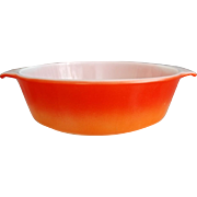 SOLD Colorful Fire King 1.5 Qt. Round Casserole