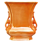 "REDUCED Cowan Pottery ""Logan"" Vase #649-B, Marigold Lustre, Ca. 1925"