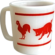 "Hazel-Atlas ""Kiddie Ware"" Animal Mug"