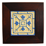 Arts & Crafts Style Framed Tile