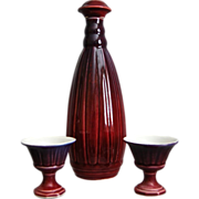 Cowan Pottery Decanter Set, Circa 1931