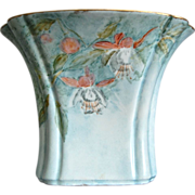 Johann Seltmann Bavarian Porcelain Handpainted Vase w/Fuchsia
